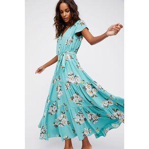 Free People All I Got Maxi Dress Botanic Combo 10